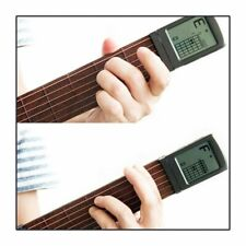 More details for portable pocket guitar 6 strings trainer with chord chart screen practice uk