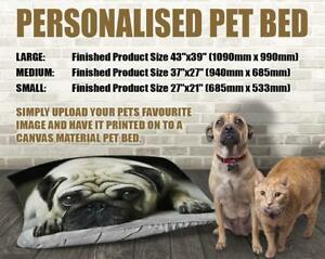 Personalised Pet Bed Cushions available in three sizes to suit your pet