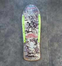 Powell Peralta Skateboard Deck Claus Grabke White 1985 Re-Issue