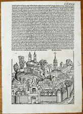 Incunable Leaf Schedel Liber Chronicorum Macedonia - 1493