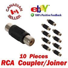 10pcs AV RCA Audio Video Female Female Coupler Adapter Connector changer Joiner