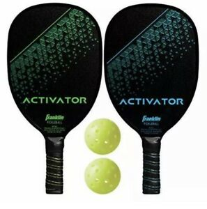 Franklin Sports Pickleball Paddle and Ball Set - Wooden - Activator - 2 Player -