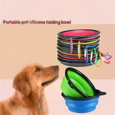 Portable Collapsible Silicone Cat Dog Pet Feeding Bowl Water Dish Feeder New