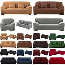 Stretch Sofa Anti Slip Cover Couch Settee Furniture Protector Quilted Slipcover