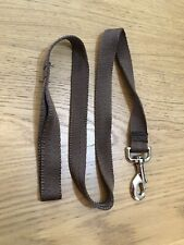 Metre Long Fabric Dog Lead (Brown)