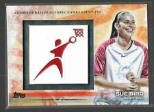 RARE 2012 TOPPS OLYMPIC SUE BIRD EVENT PIN CARD #ELP-SB ~ UCONN ~ WNBA ~ USA