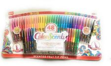 Scentos Color Scents 48 Felt Tip Pens- Multi-Scent Collection