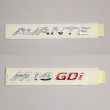 Elantra Hyundai Avante + M16GDI SET Genuine Emblem Trunk Logo Parts Chrome Rear