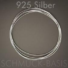 1 Meter Silberdraht (echt); 925 Silber;  0,75 mm rund