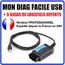 Valise Appareil Diagnostique Pro Multimarque En Français Obd2 Diagnostic MDF USB