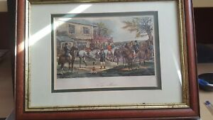 TWO HUNTING PRINTS SOLD AS A PAIR