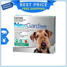 Nexgard For Large Dogs10.1 -25Kg GREEN Pack 3 Chews Flea & Tick Supply by Merial