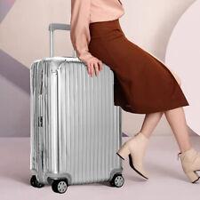 20'' Hard Shell Cabin Suitcase 4 Wheel Luggage Trolley Case Lightweight Silver