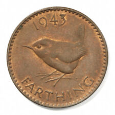 Great Britain George VI 1943 Farthing, KM# 843 - Uncirculated Condition.