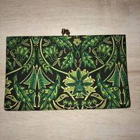 Banana Republic Black Green Silk Clutch Purse Excellent Condition Not Used