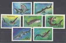 Timbres Poissons Faune marine Requins Tanzanie 1428/34 ** lot 22956