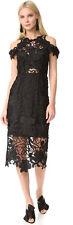 $550 NWT THURLEY Hollyhock Midi Lace Floral Crochet Guipure Dress US 8 AU 12