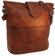 Umhängetasche Ledertasche Shopper Handtasche Leder Damen Vintage Braun