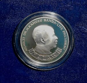 Malawi 1974 proof silver 10 kwacha Reserve Bank commemorative