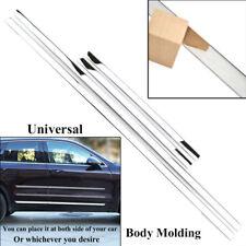 Chrome Side Door Lining Body Molding Strip Cover Overlay Universal Bezel Trim
