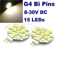 4x replace 30W Halogen Bulbs 12-24V 15LEDs 5050 SMD G4 led bulbs for wall light