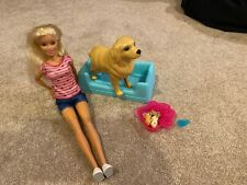 Barbie Newborn Puppies Baby Playset Doll Rare Lot Box Pregnant Dogs