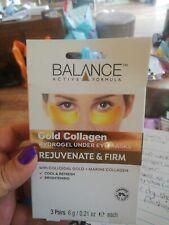 Balance Gold Collagen Eye Patches Hydrogel Under Eye Masks 3 Pairs
