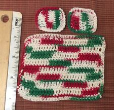 dollhouse miniatures 1:12 artist offerings Crochet Small 2 Pillows & Blanket Set
