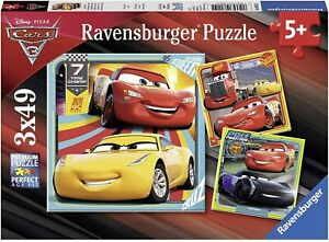 Disney Cars 3 Collection 3 x 49pc Jigsaw Puzzle