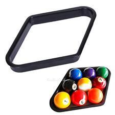 "Billiards 9 Ball Pool Table Quadrangle Rack Heavy Duty Black Plastic for 1/4"""