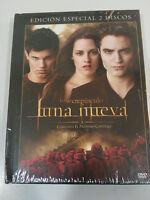Saga Crepuscolo Luna Nuovo 2 DVD+Libro Spagnolo English Nuovo - 3T