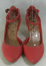 Firetrap Red Leather Ankle Strap Heels Shoes   UK 4