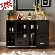Sideboard Buffet Cabinet Wine Bar Dining Server China Storage Kitchen Hutch