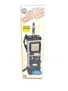 NEW GE Citizen Band Transceiver Model 3-5975 3 Channel Hand Held 2 Watt Prepper
