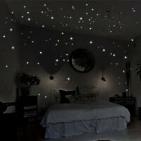 407Pcs Round Dots Night Luminous Star Wall Stickers Decal Kids Room Home Decor