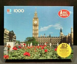 Big Ben 1000 London Piece Picture Puzzle Milton Bradly 50th Anniversary PS