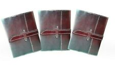 Leather Journal Diary Notebook Handmade Blank Travel Notepad Lot of 3