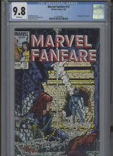 MARVEL FANFARE #12 MT 9.8 CGC WHITE PAGES MACCHIO STORY PEREZ ART AND COVER