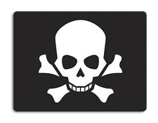 Work top saver, Glass Chopping board 40 x 30cm Skull and Crossbones design