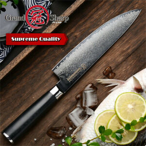 Chef Knife 8 Inch VG10 Japanese Damascus Steel Kitchen Chef Knives Cooking Tools