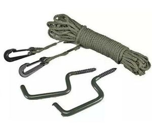 Hunter's Bow Holder Hooks Includes 2 Hooks plus 30' of Rope Hunting Gear