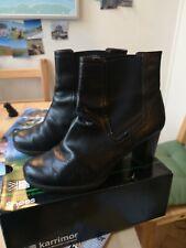 Black High Heel Boots Size 6 1/2