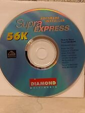 Software Installer Supra Express 56K Diamond multimedia Stock #D475