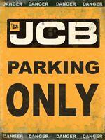 Jcb Parking Only Großes Stahlschild 400mm x 300mm (Og)