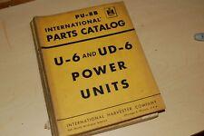 IH INTERNATIONAL U-6 UD-6 POWER UNIT GENERATOR Parts Manual Book Catalog engine
