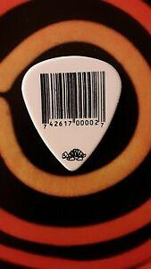 SLIPKNOT James Root bar code guitar pick - (white ) NEW LISTING!