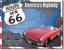 Route 66 1926 - 1985 metal sign  410mm x 315mm   (de)