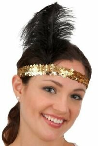 Flapper Headband - Gold/Black - 1920's - Costume Accessory - Adult Teen
