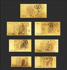 Lot banknotes euro replica oro gold 24k Full Collection!!!