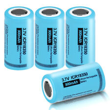 New listing 4 Pack 18350 3.7V 900mAh Rechargeable Li-ion Battery with Flat top